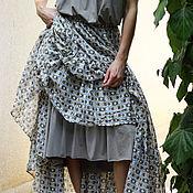 Одежда ручной работы. Ярмарка Мастеров - ручная работа Воздушная летняя юбка с нижней юбкой. Handmade.