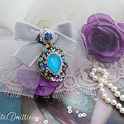 Украшения handmade. Livemaster - original item Brooch-pin: Brooch Order pendant beaded with crystal. Handmade.