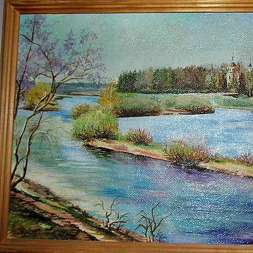 """Картины и панно ручной работы. Ярмарка Мастеров - ручная работа Картина:""""Весна"""". Handmade."""