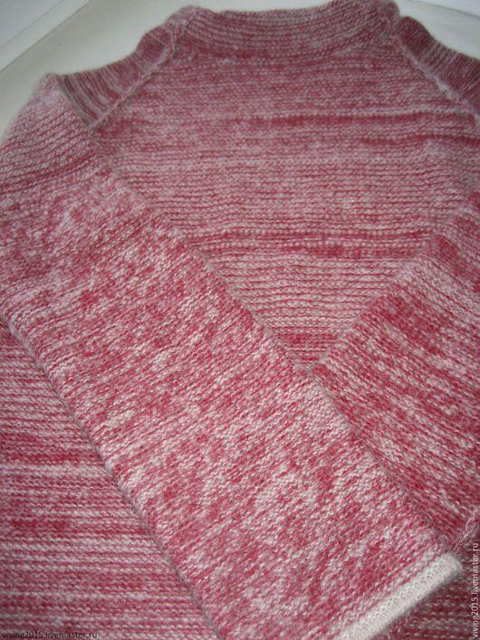 """Кофты и свитера ручной работы. Ярмарка Мастеров - ручная работа. Купить Теплый мохеровый свитер """"Пион"""". Handmade. Бордовый, молодежный"""