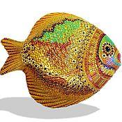 Картины и панно handmade. Livemaster - original item plate decorative gold fish. Handmade.