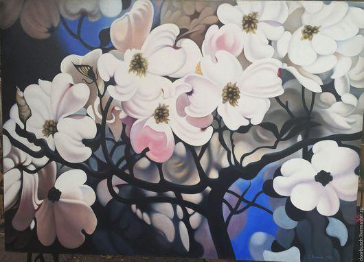 Картины цветов ручной работы. Ярмарка Мастеров - ручная работа. Купить Магнолия. Handmade. Магнолия, магнолии, цветы, масло на холсте