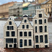 Винтаж handmade. Livemaster - original item Collection of Delft houses - the epitome of the Netherlands. Handmade.