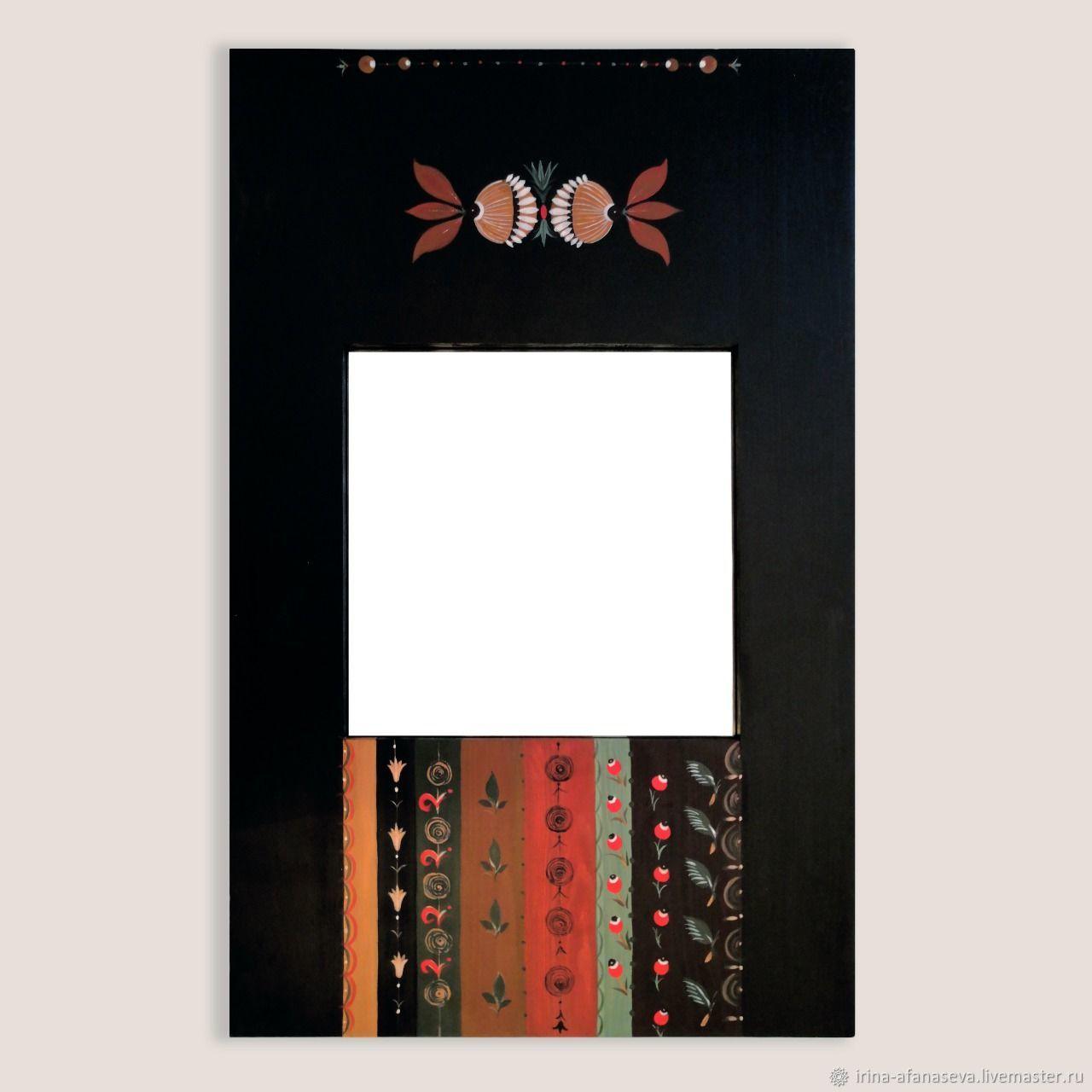 Зеркала из массива с росписью, Зеркала, Москва,  Фото №1