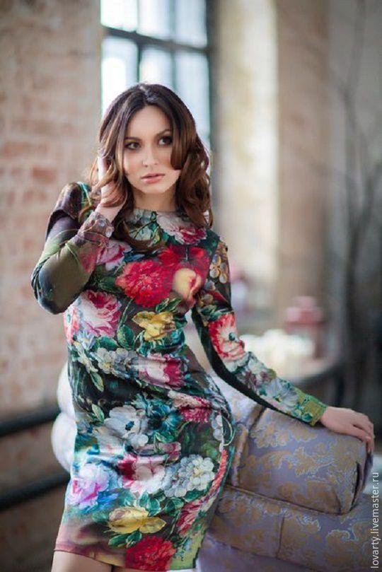 Dress made of natural silk
