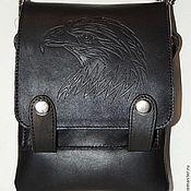 Сумки и аксессуары handmade. Livemaster - original item Black men`s leather bag