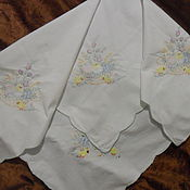 Винтаж handmade. Livemaster - original item Table cloth with Easter story,cotton,vintage Germany. Handmade.