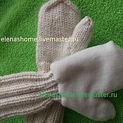 Работы для детей, ручной работы. Ярмарка Мастеров - ручная работа Варежки с удлиненной манжетой. Handmade.