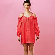 Одежда ручной работы. Ярмарка Мастеров - ручная работа Летний сарафан из хлопка розового цвета. Handmade.