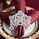 Текстиль, ковры ручной работы. Ярмарка Мастеров - ручная работа. Купить Кольца для салфеток Ажжур. Handmade. Кольца для салфеток, полиэстер