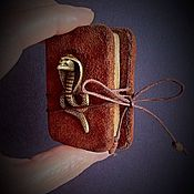"""Канцелярские товары ручной работы. Ярмарка Мастеров - ручная работа Блокнот ладошечный """" Секрет Нагайны"""". Handmade."""