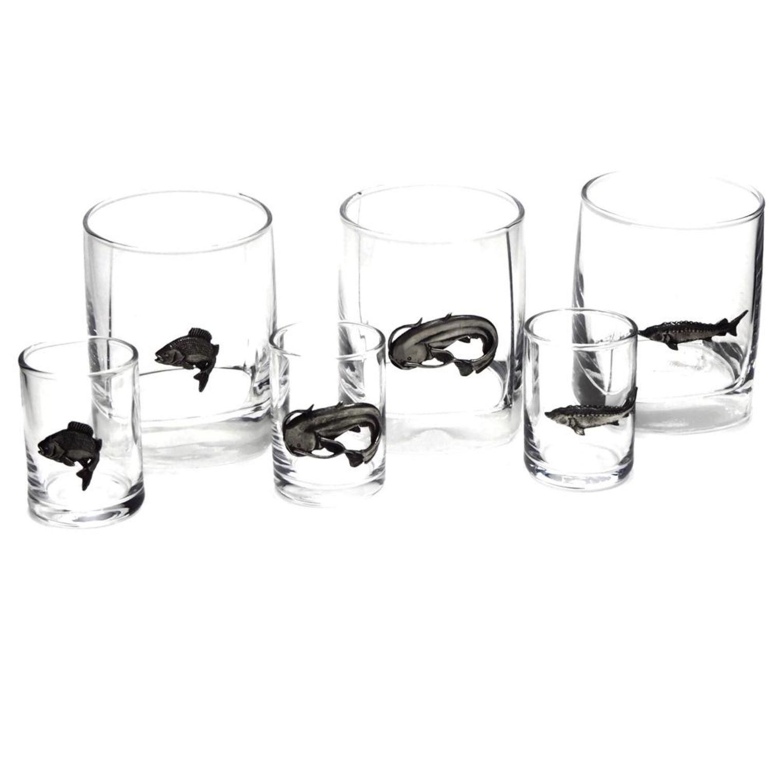 Gift set 'Big catch' (glass 3 PCs., stack 3 PCs.), Gifts for hunters and fishers, Zhukovsky,  Фото №1