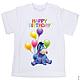 """Одежда унисекс ручной работы. Ярмарка Мастеров - ручная работа. Купить Детская футболка """"С днем рождения"""" ослик Иа. Handmade."""