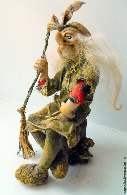 """Коллекционные куклы ручной работы. Ярмарка Мастеров - ручная работа. Купить Кукла Баба-Яга. """"Маленькая Ягушка"""". Handmade."""