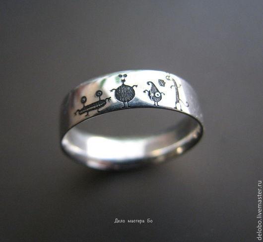 Кольца ручной работы. Ярмарка Мастеров - ручная работа. Купить кольцо Монстрики. Handmade. Белый, кольцо серебряное, кольцо в подарок