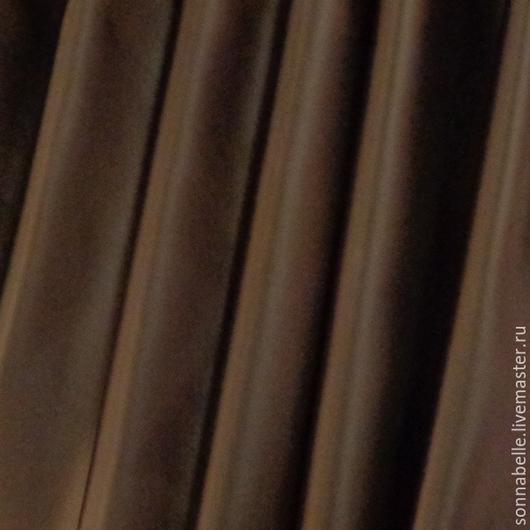 Шитье ручной работы. Ярмарка Мастеров - ручная работа. Купить Ткань портьерная Сатен Шёлк Шоколадно-коричневый. Handmade. Разноцветный