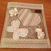 """Открытки ручной работы. Ярмарка Мастеров - ручная работа Свадебная открытка в стиле """"шебби шик"""". Handmade."""