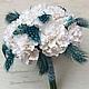 Свадебные цветы ручной работы. Букет невесты в бело- бирюзовом цвете. Ирина Раншакова (ranshakova). Ярмарка Мастеров. Букет на свадьбу