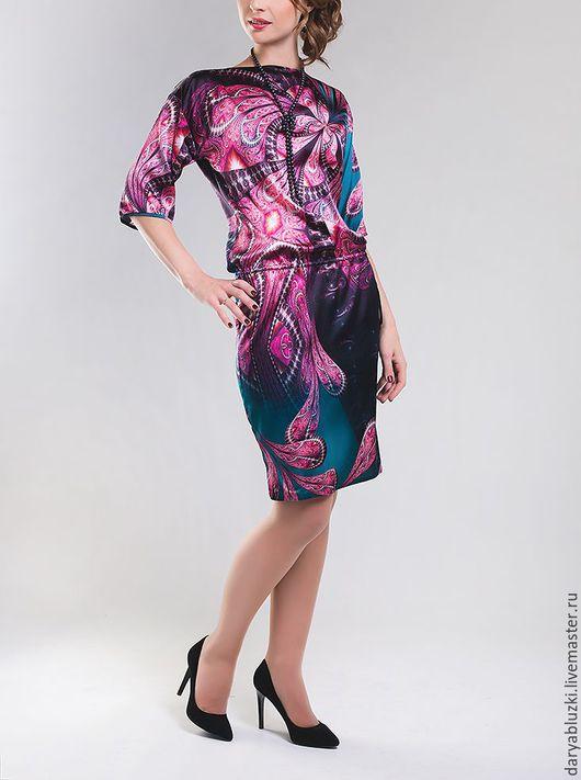 """Платья ручной работы. Ярмарка Мастеров - ручная работа. Купить Платье шелковое """"Сказка"""". Handmade. Комбинированный, абстрактный, нарядное платье"""