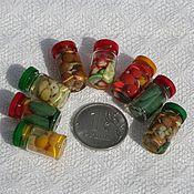 Куклы и игрушки ручной работы. Ярмарка Мастеров - ручная работа Еда для кукол: консервы в банке. Handmade.