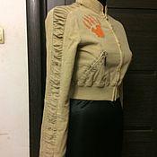 Винтажная одежда ручной работы. Ярмарка Мастеров - ручная работа Винтажная одежда: Фирменный бомбер ( Франция) р 42. Handmade.
