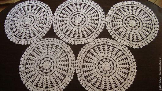 Текстиль, ковры ручной работы. Ярмарка Мастеров - ручная работа. Купить САЛФЕТКА вязаная крючком ажурная  30 см № 2. Handmade.