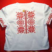 Одежда детская handmade. Livemaster - original item Russian embroidered shirt for a boy. Handmade.