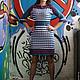 Платья ручной работы. Ярмарка Мастеров - ручная работа. Купить Вязаное платье авторское Питер. Handmade. Синий, платье в офис