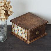 """Для дома и интерьера ручной работы. Ярмарка Мастеров - ручная работа Шктулка """"Color print"""". Handmade."""