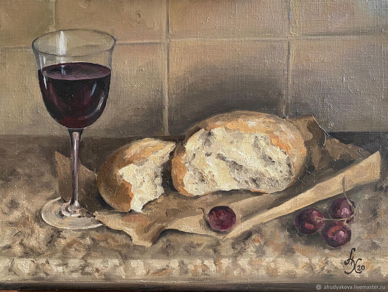 "Картина маслом: ""Хлеб и вино"", Картины, Москва,  Фото №1"