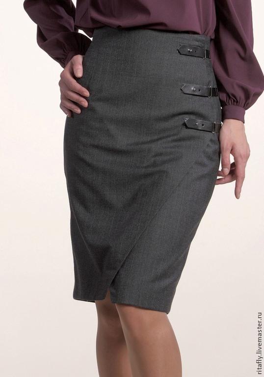 Как сделать застежку у юбки с запахом