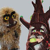 Куклы и игрушки ручной работы. Ярмарка Мастеров - ручная работа Театральная пара дерево Дуб и огр Треш. Handmade.