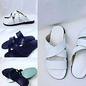 Обувь ручной работы. Ярмарка Мастеров - ручная работа Пантолеты из кожи. Handmade.