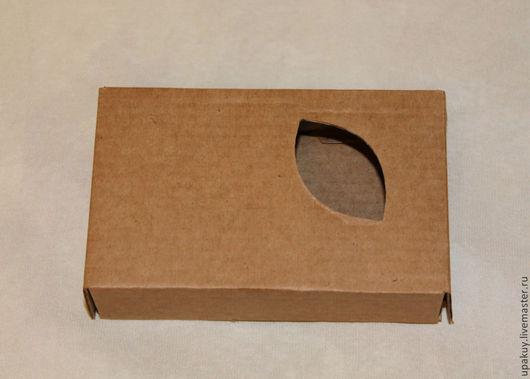 Упаковка ручной работы. Ярмарка Мастеров - ручная работа. Купить Коробочка с окошком. Handmade. Коричневый, коробочка для подарка, упаковка