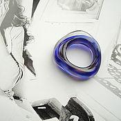 Украшения ручной работы. Ярмарка Мастеров - ручная работа Минималистичное кольцо из муранского стекла ручной работы.. Handmade.