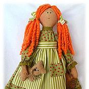 Куклы и игрушки ручной работы. Ярмарка Мастеров - ручная работа Чердачная кукла в зеленом. Handmade.