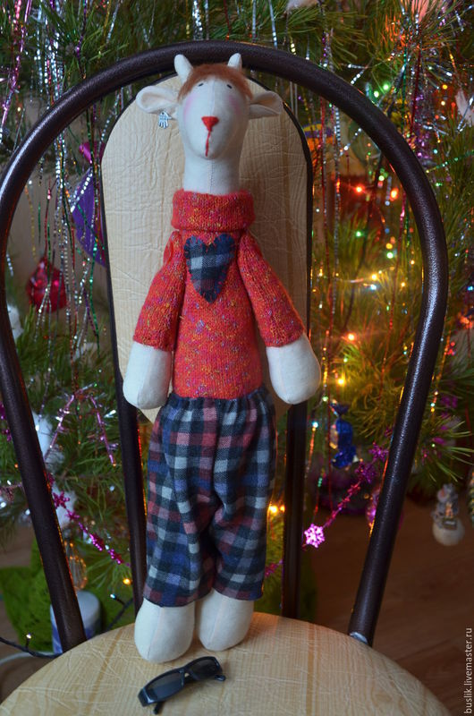 Куклы Тильды ручной работы. Ярмарка Мастеров - ручная работа. Купить Тильда жираф Модный парень. Handmade. Жираф