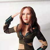 Портретная кукла Девушка солдата