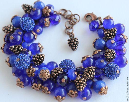 """Браслеты ручной работы. Ярмарка Мастеров - ручная работа. Купить Браслет """"Синий"""". Handmade. Тёмно-синий, браслет, браслет на руку"""