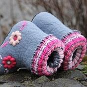 """Обувь ручной работы. Ярмарка Мастеров - ручная работа Валенки детские """"Полянка"""". Handmade."""