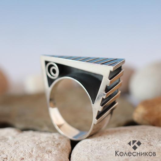 """Кольца ручной работы. Ярмарка Мастеров - ручная работа. Купить Кольцо """"Ребус"""". Handmade. Серый, задача, необычное, подарок"""