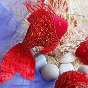 Подарки к праздникам ручной работы. Ярмарка Мастеров - ручная работа РЫБКИ на новогоднюю елку. Handmade.