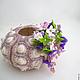 Серьги ручной работы. Флора ...... ' Рыжая кошка '. Интернет-магазин Ярмарка Мастеров. Фиолетовый, цветы, цветы на свадьбу