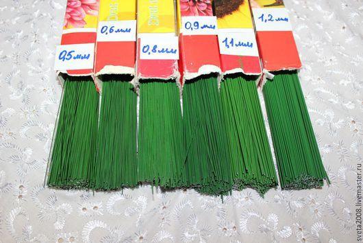 Материалы для флористики ручной работы. Ярмарка Мастеров - ручная работа. Купить Друт (проволока флористическая). Handmade. Тёмно-зелёный, проволока