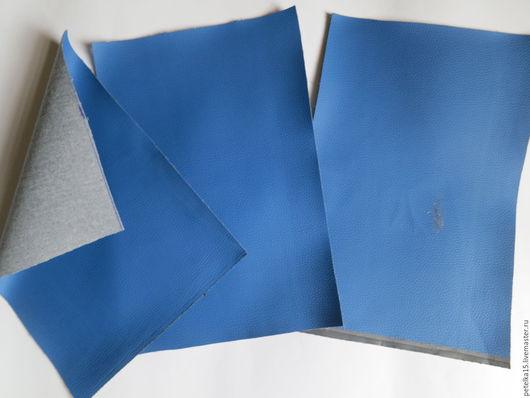 Открытки и скрапбукинг ручной работы. Ярмарка Мастеров - ручная работа. Купить листы экокожи №57 темно-голубой. Handmade. Кожа