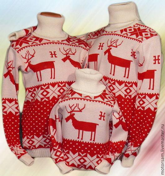 Тату-свитера с норвежскими мотивами (семейный вариант)