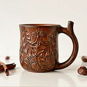 Посуда ручной работы. Ярмарка Мастеров - ручная работа Кружка для чая Дубы-колдуны большая. Handmade.