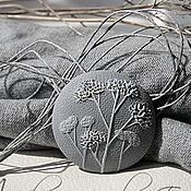 """Подвеска ручной работы. Ярмарка Мастеров - ручная работа Кулон """"Сизый вечер"""" из полимерной глины. Handmade."""