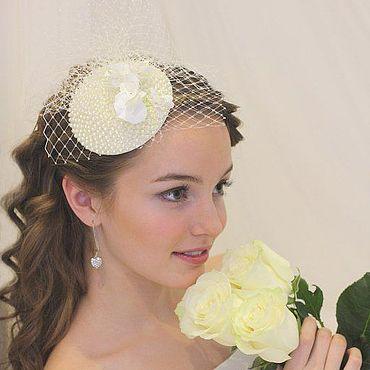 """Свадебный салон ручной работы. Ярмарка Мастеров - ручная работа Свадебная шляпа для невесты """"Одри"""". Handmade."""