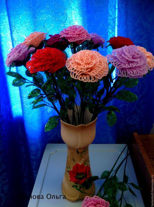 Цветы ручной работы. Ярмарка Мастеров - ручная работа. Купить Розы. Handmade. Комбинированный, подарок, проволока